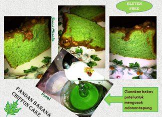 Gluten Free Pandan Banana Chiffon Cake by Janni Wirakusumah Morales