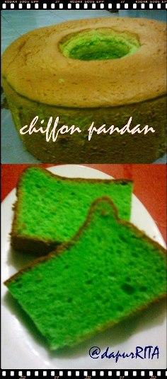 Pandan Chiffon Cake by Rita Diana Fahry
