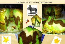 Pandan Choco-Mint Chiffon Cake by Janni Wirakusumah Morales