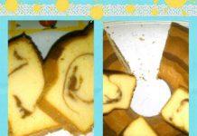 Marmer cake ...karena nyari timbangan mupeng2 'ketelingsut' pake sendok nakernya ...percobaan Dan berhasil horeyyyyyy....