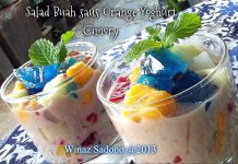 Salad Buah saus Orange Yoghurt Cimory by Winaz Sadono
