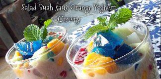 Salad Buah saus Orange Yoghurt Cimory by Winaz Sadono