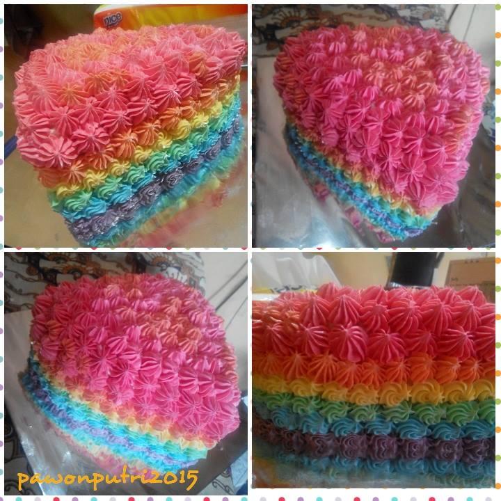 RAINBOW CAKE KUKUS BY PUTRI YUNININGTYAS