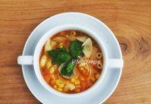 Spicy Macaroni Herb Soup by Fa Mella
