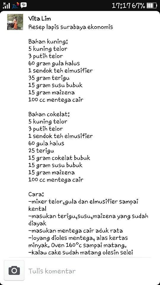 Lapis Surabaya Ekonomis by Martha MW Kitchen