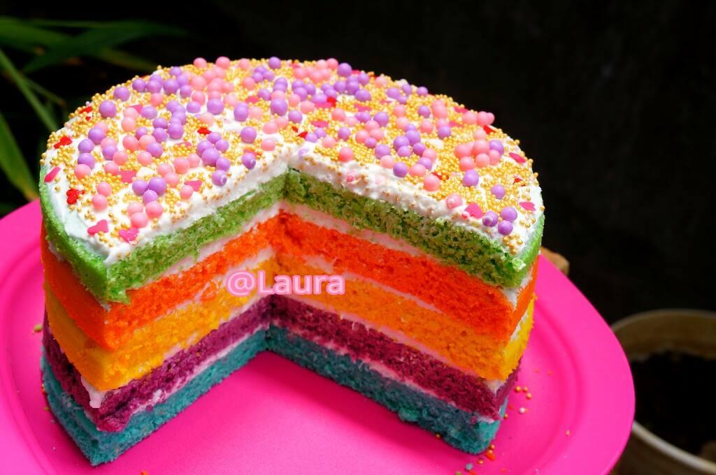 Rainbow Cake by Laura Radit