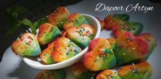 Rainbow Heart Cookies by Ainie Dihati Adji