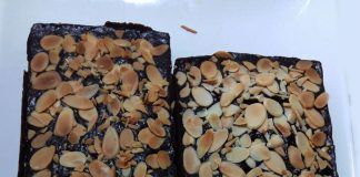 Classic Fudge Almond Brownies by Chen May Liang