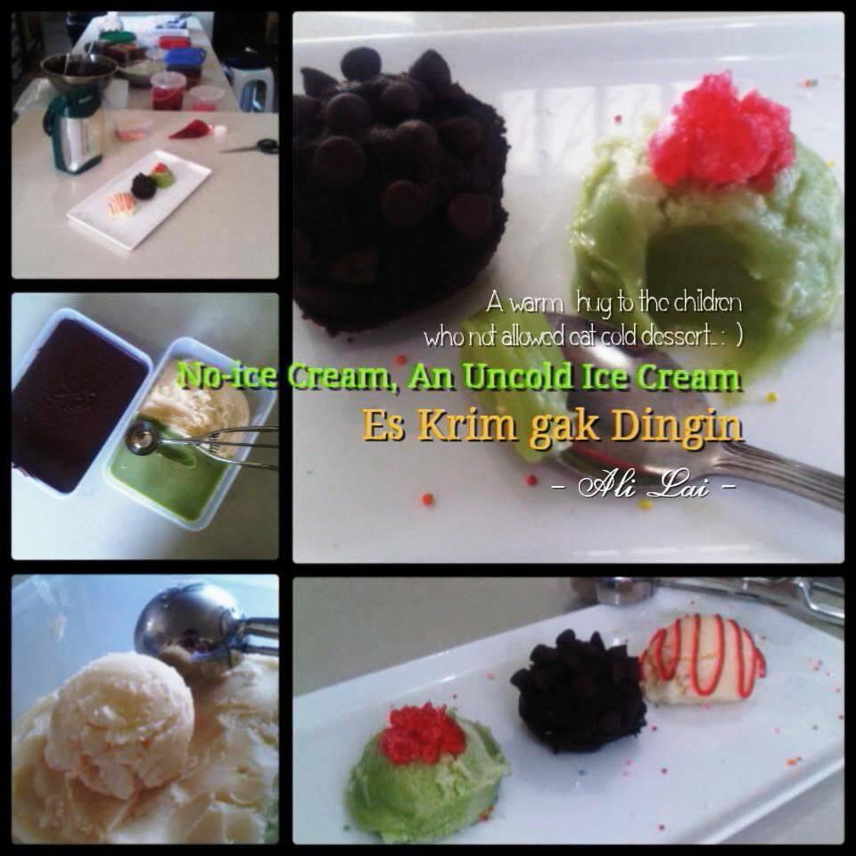 No-ice Cream, An Uncold Ice Cream by Ali Lai