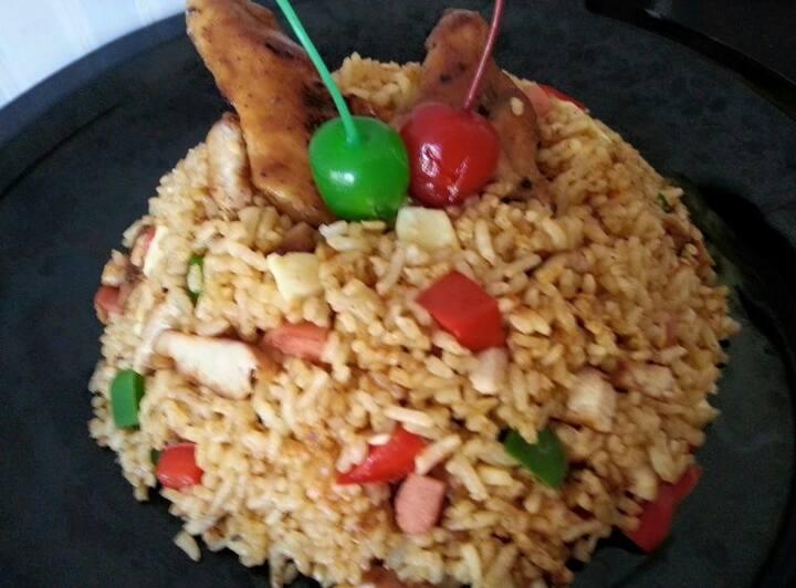 Ayam Panggang Madu & Nasi Goreng Keju by Susianne Flo S.