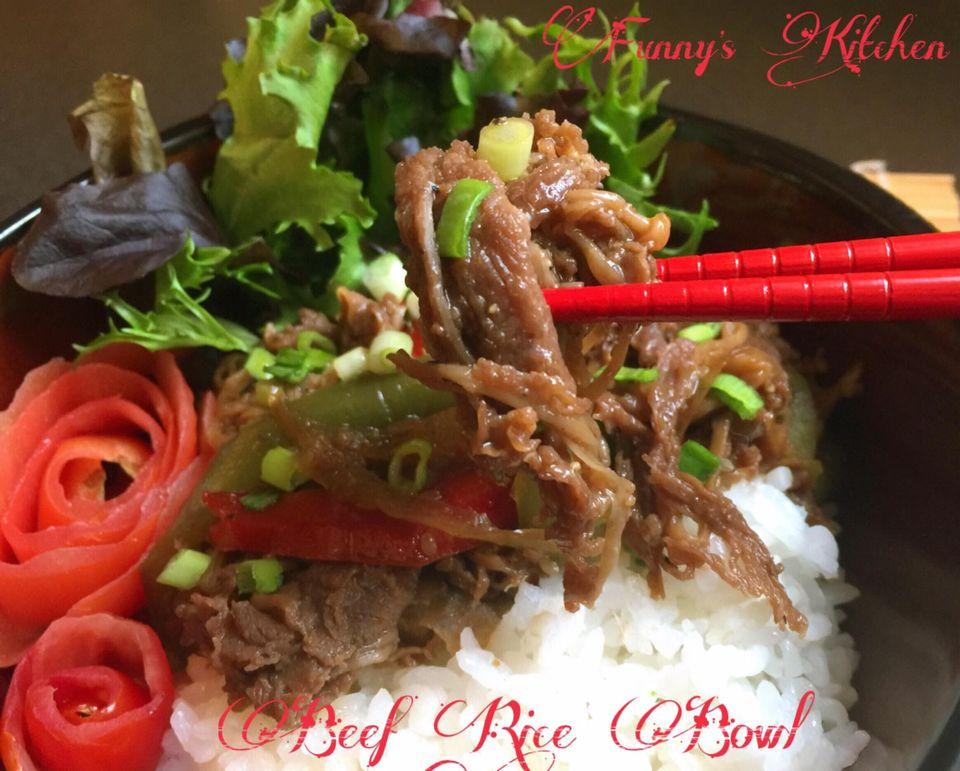 Rice Beef Bowl by Fani Valenzuela