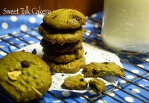 Green tea Chocochip Walnut Cookies by Vivi Hartono