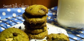Green tea Chocochip Walnut Cookies by Vivi Hartono