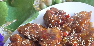 Hot & Spicy Korean Chicken Wings by Kristina Maria