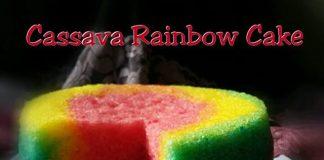 Cassava Rainbow Cake by Kusmilawaty Mila