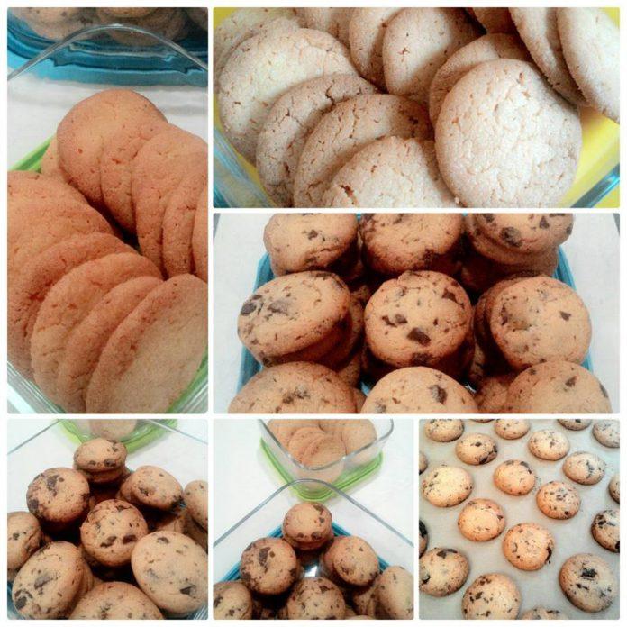 Crispy Butter Cookies & Chocochips Butter Cookies by Firagiel Isti