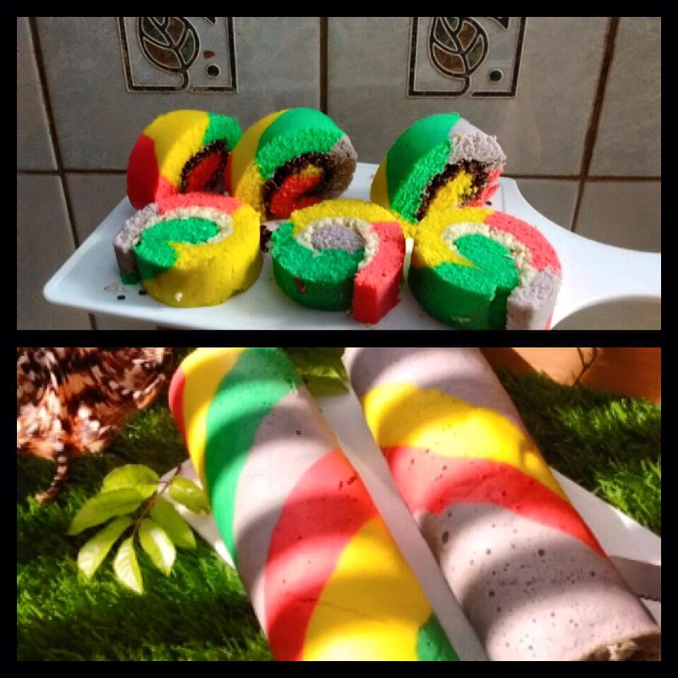 Rainbow Cake Gulung by Vivi Hartono