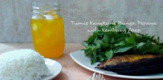 Tumis Kangkung Bunga Pepaya with kembung Asap by Lys Ty