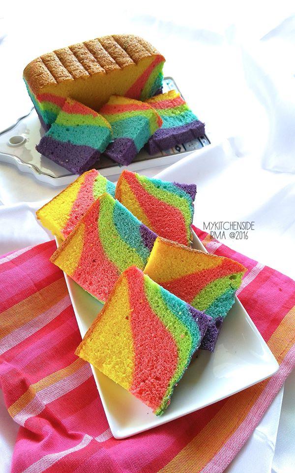 Vanilla Rainbow Ogura Cake By Andriana Irma