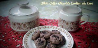 White Coffee Chocolate Cookies Dewi Sriyanty