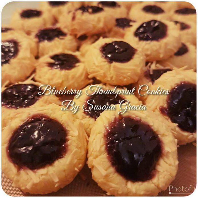 Blueberry Thumbprint Cookies by Susana Gracia Chatrine