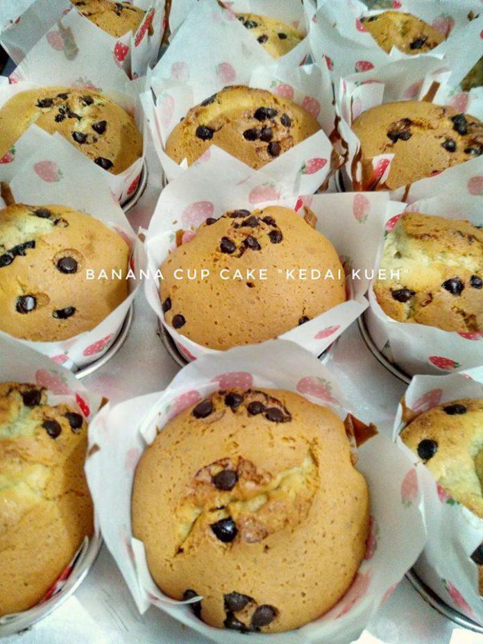 Cup Cake Pisang Praktis by Kedai Kueh