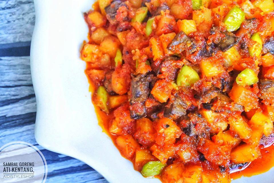 Ati Potato Fried Sambal Without Santan By Aidistyleshop