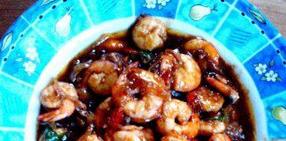 Udang masak Saus Inggris by Tan May Liang
