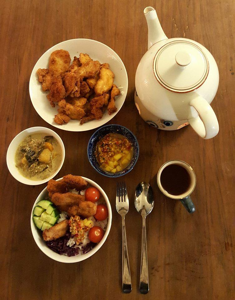 ayam panko & saus mangga