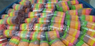 Mini rainbow roll cake by Dyah Ayu Savitri