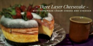 Three Layer Cheesecake with Homemade Cream Cheese and Cheddar by Raafi Wulandari