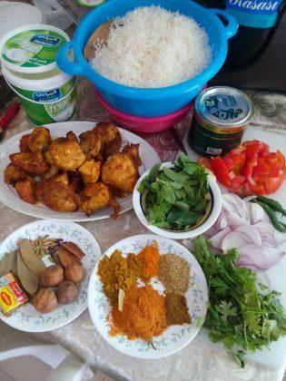 bahan Chicken Briyani by Teh Neng Karawang