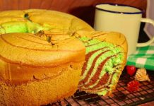 Chiffon Cake Pandan Chocolate anti kempes by Timmy Hayes