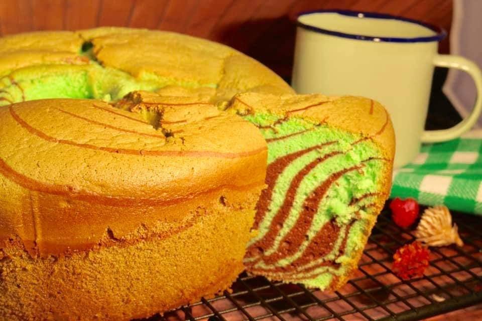 Chiffon Cake Pandan Chocolate anti kempes by Timmy Hayes