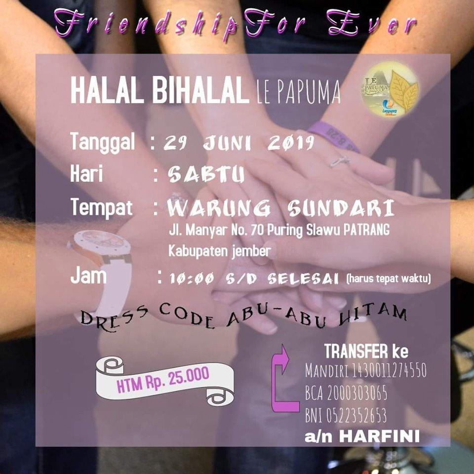 Halal Bihalal LE PAPUMA JEMBER 2019