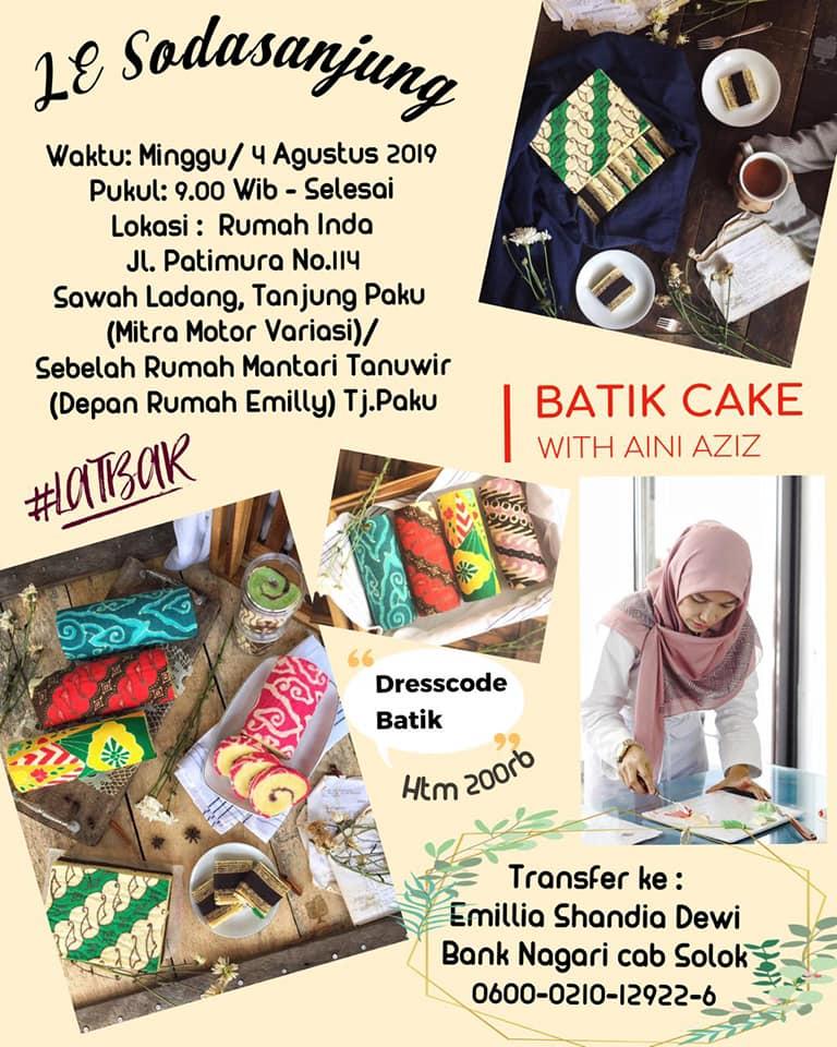 Latbar Bolu gulung batik dan lapis legit batik