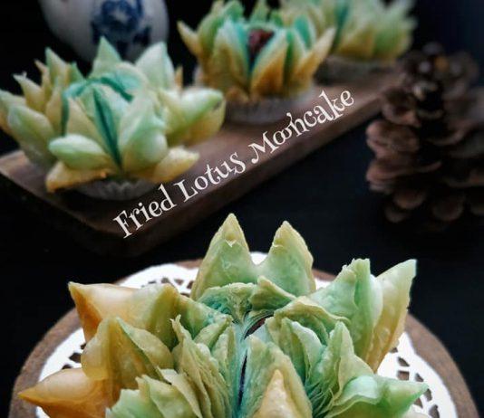Fried lotus mooncake by Tri Yunianti