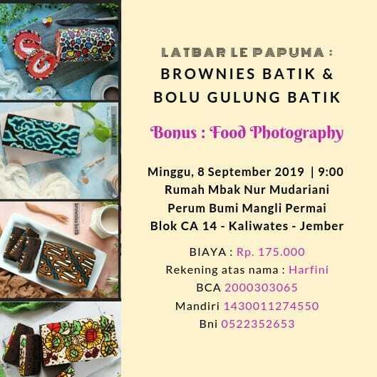 Latbar brownies batik dan bolu gulung batik LE PAPUMA