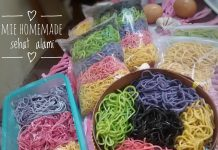 Mie homemade warna-warni by Yeni Ayu