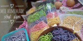 Mie homemade warna-warni by Yeni Ayu