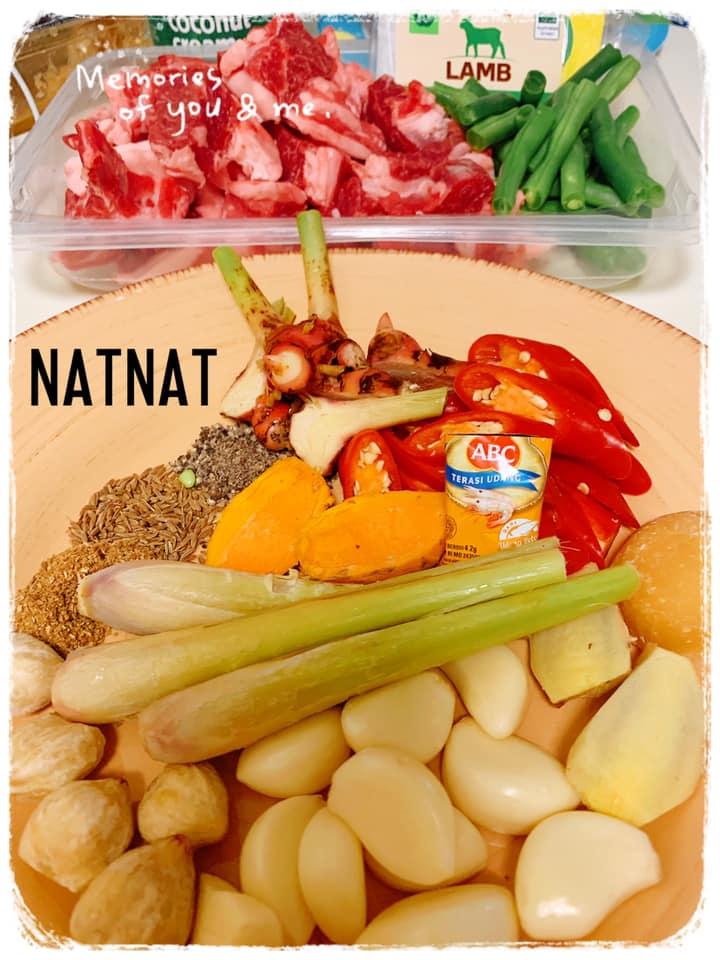 bumbu halus NatNat Lamb Curry (NatNat kari daging domba) by Talia Noelle Ayume