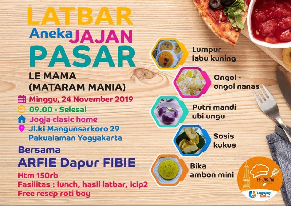 latbar LE MAMA tema Aneka Jajan Pasar Premium