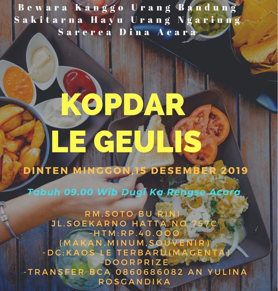 Kopdar LE_Geulis Bandung