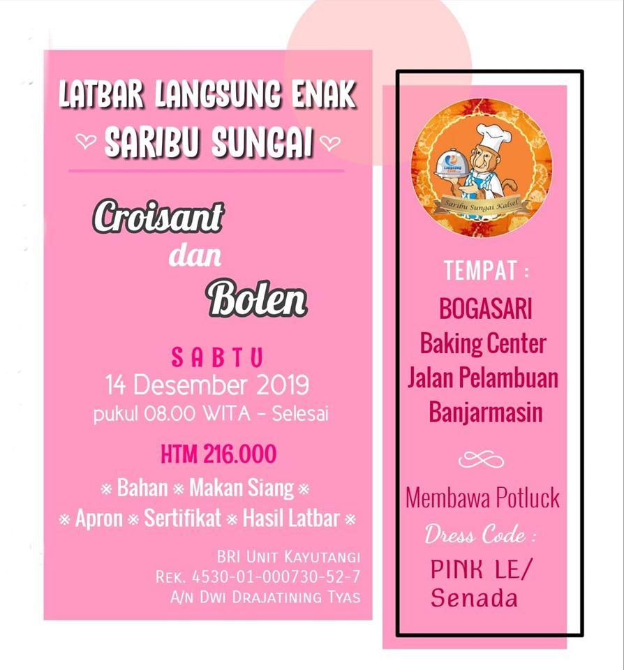 LatBar LE Saribu Sungai Kalimantan Selatan materi resep Bolen dan Croisant