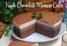 Triple Chocolate Mousse Cake by Wetma Wiza