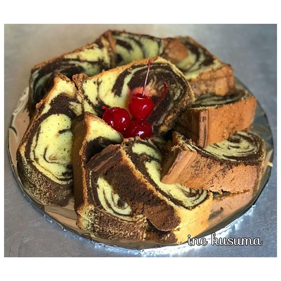 Classic Marble Butter Cake by Ine Kusumawardhani