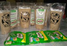 MILKY JELLY DRINK MILO by Rosna Yuliansari