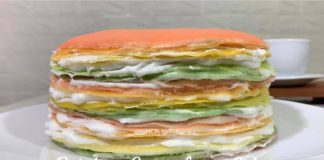 RAINBOW CREPE LAYER CAKE by Dicky Ardiansyah