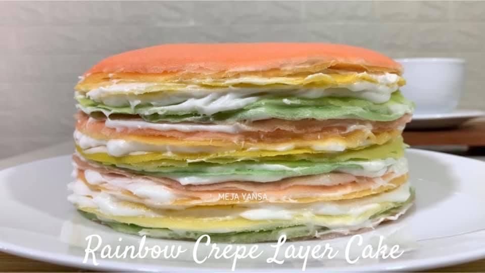 RAINBOW CREPE LAYER CAKE by Dicky Ardiansyah