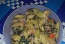 Tumis lumbu/lompong/keladi sayur by Dewi Fatmawati